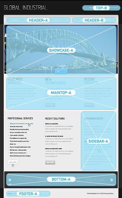 Joomla Theme/Template 40403 Main Page Screenshot