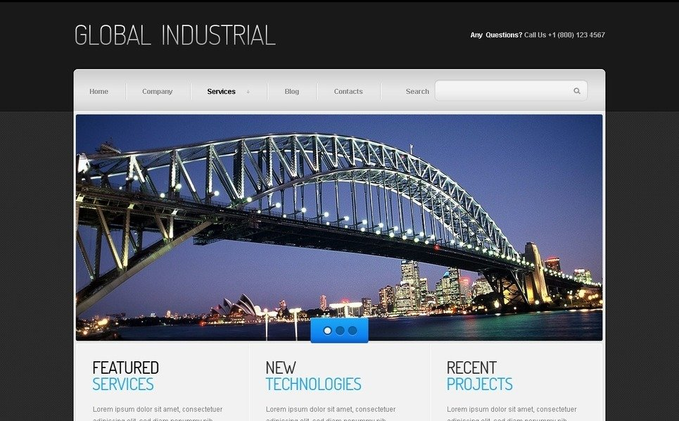 Joomla Template over Industriele New Screenshots BIG