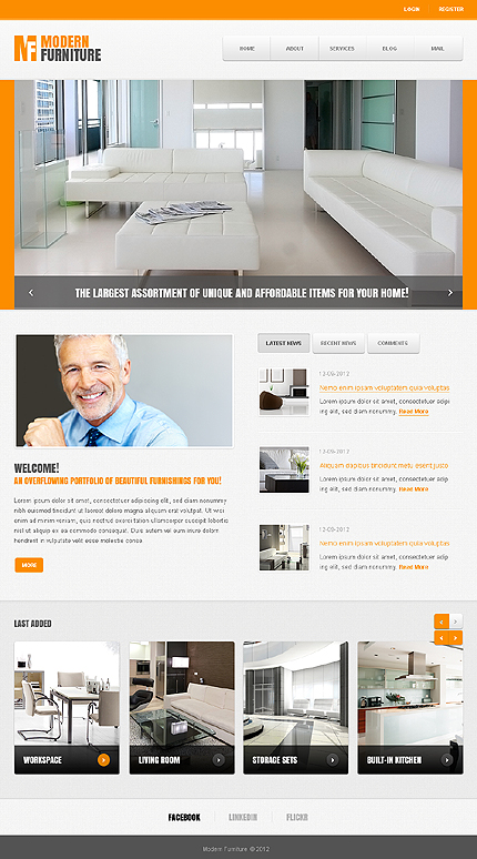 Joomla Theme/Template 40404 Main Page Screenshot