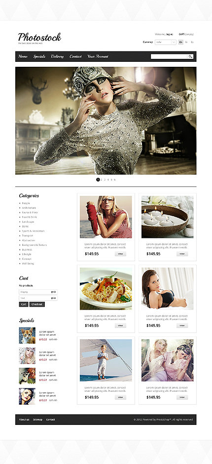 ADOBE Photoshop Template 40412 Home Page Screenshot
