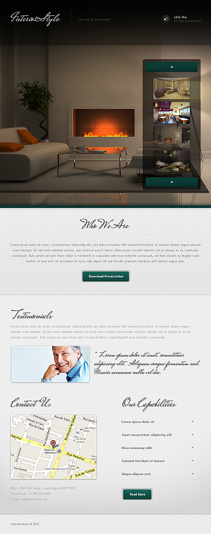 ADOBE Photoshop Template 40439 Home Page Screenshot