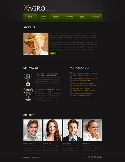 Template 40441 ( About Us Page ) ADOBE Photoshop Screenshot