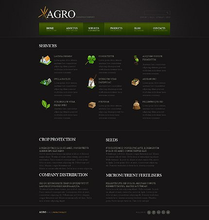 Template 40441 ( Services Page ) ADOBE Photoshop Screenshot