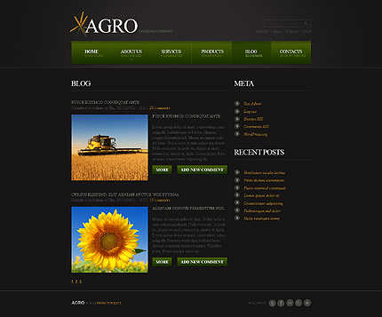 Template 40441 ( Blog Page ) ADOBE Photoshop Screenshot