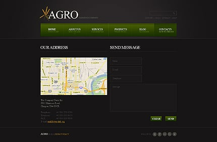 Template 40441 ( Contacts Page ) ADOBE Photoshop Screenshot