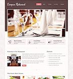 Cafe & Restaurant Website  Template 40442