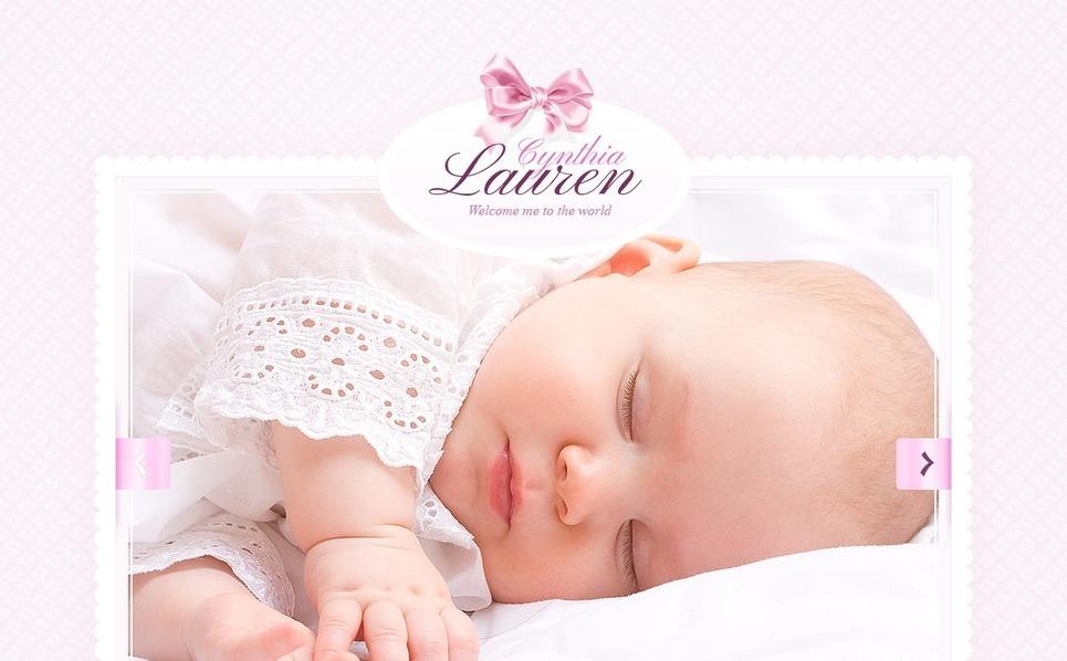 Шаблон сайту на тему немовля New Screenshots BIG