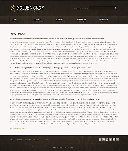Template 40447 ( Privacy Policy Page ) ADOBE Photoshop Screenshot