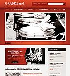 Music Website  Template 40450