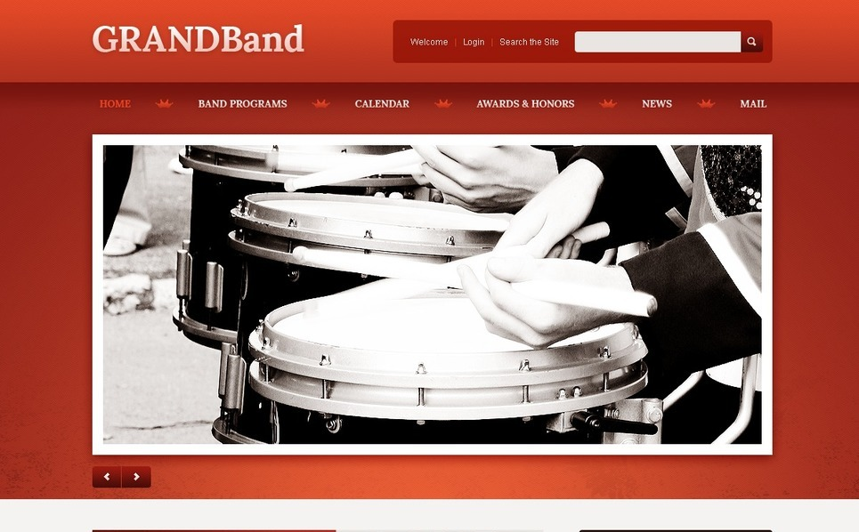 Template Siti Web Responsive #40450 per Un Sito di Music Band New Screenshots BIG