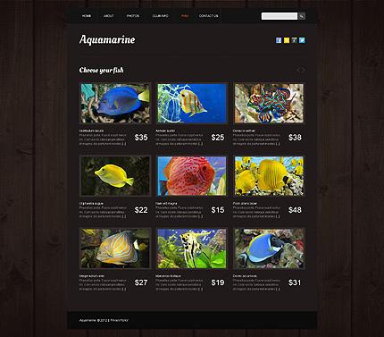 Template 40451 ( Fish Page ) ADOBE Photoshop Screenshot