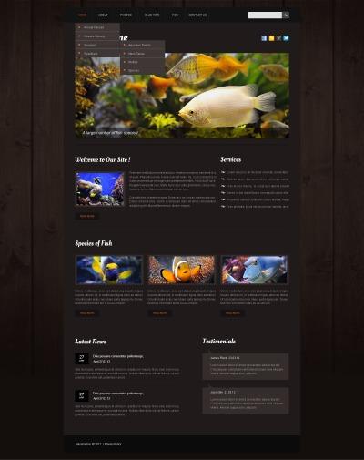 Fisk Responsivt Hemsidemall
