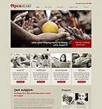 Charity Website  Template 40452