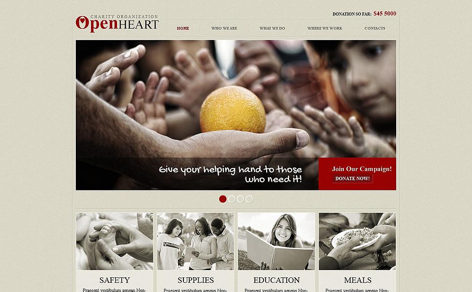 Plantilla Web Responsive para Sitio de Caridad New Screenshots BIG