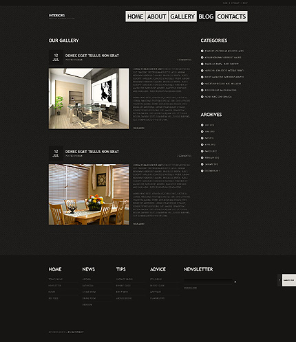 Template 40455 ( Blog Page ) ADOBE Photoshop Screenshot
