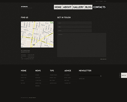 Template 40455 ( Contacts Page ) ADOBE Photoshop Screenshot