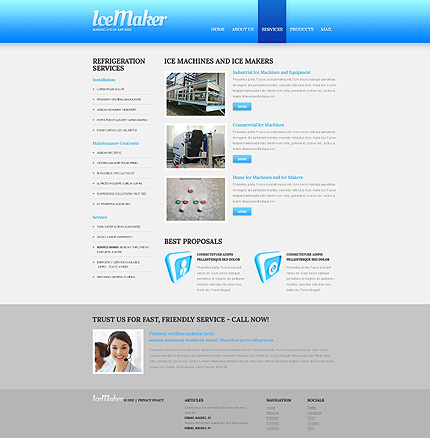 Template 40456 ( Services Page ) ADOBE Photoshop Screenshot