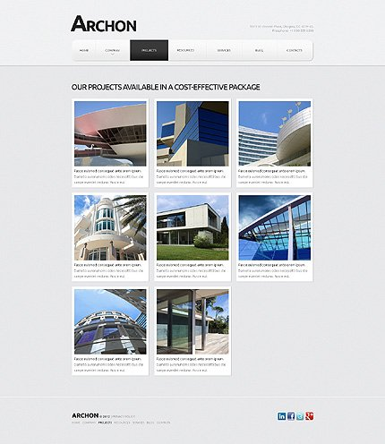 Template 40461 ( Projects Page ) ADOBE Photoshop Screenshot