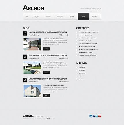 Template 40461 ( Blog Page ) ADOBE Photoshop Screenshot