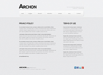 Template 40461 ( Privacy Policy Page ) ADOBE Photoshop Screenshot