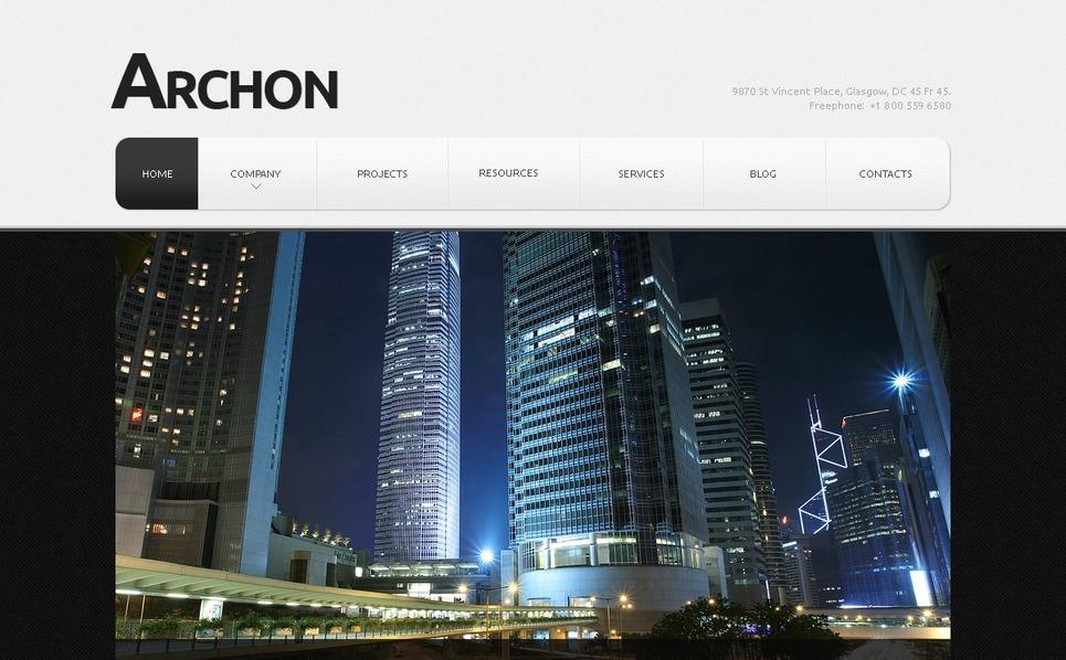 Plantilla web 40461 para sitio de arquitectura for Arquitectura sitio web