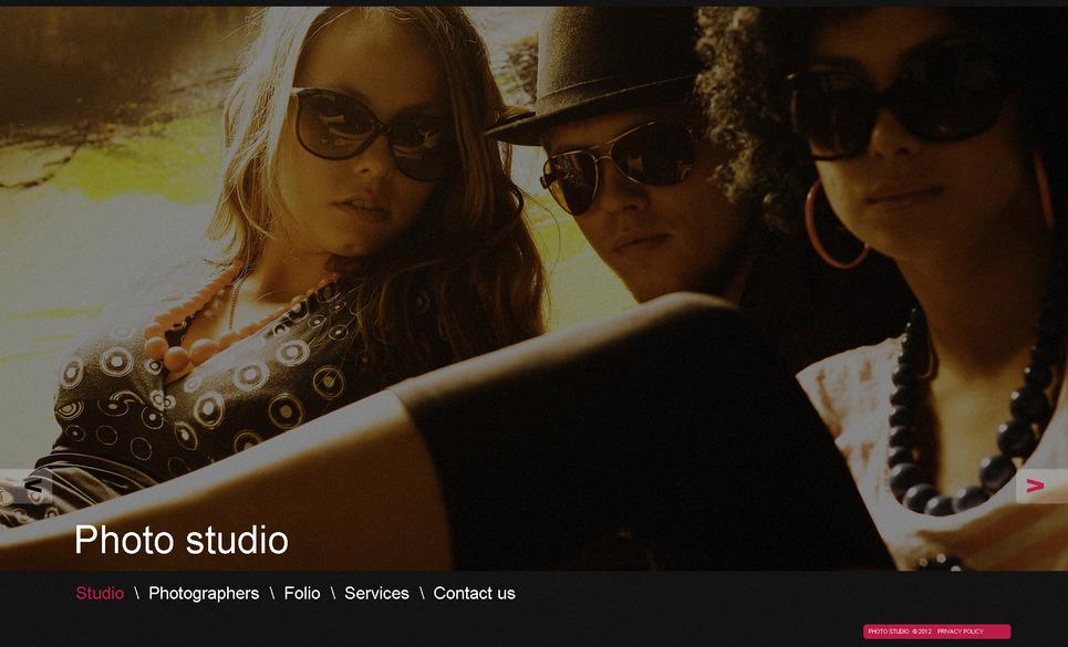 Szablon Moto CMS HTML #40462 na temat: studio fotografii New Screenshots BIG