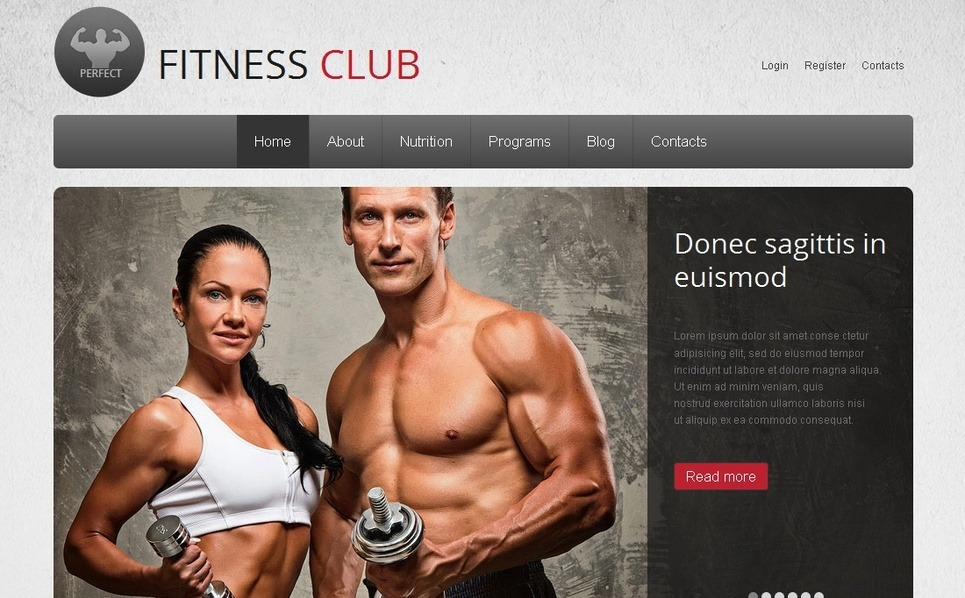 Moto CMS HTML šablona Fitness New Screenshots BIG