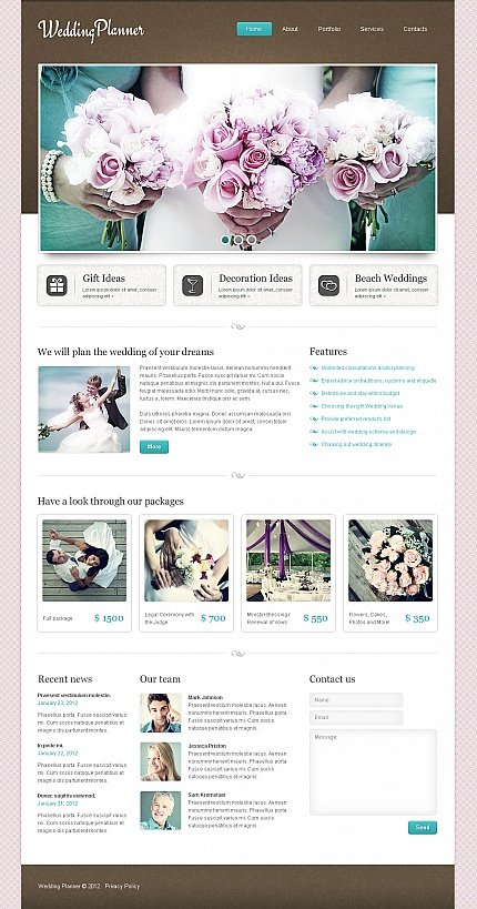 ADOBE Photoshop Template 40468 Home Page Screenshot