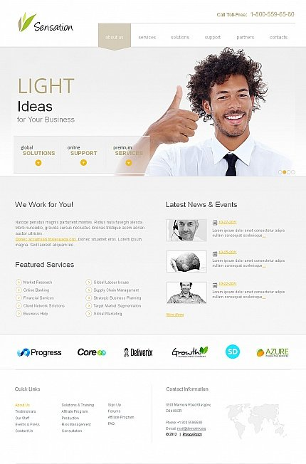 ADOBE Photoshop Template 40469 Home Page Screenshot