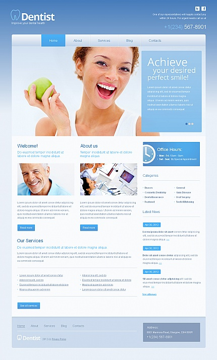 ADOBE Photoshop Template 40471 Home Page Screenshot
