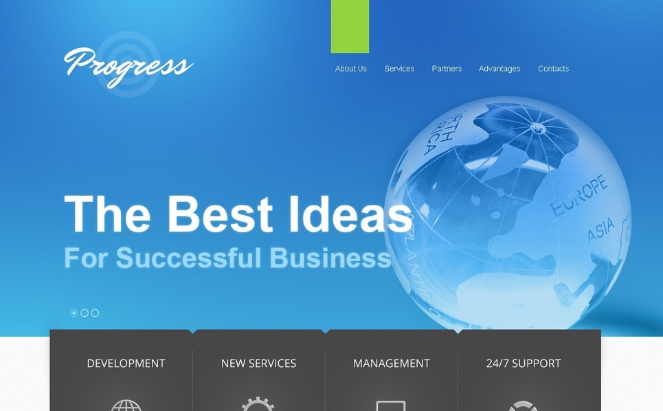 Modello Siti Web Responsive #40472 per Un Sito di Business e Servizi New Screenshots BIG