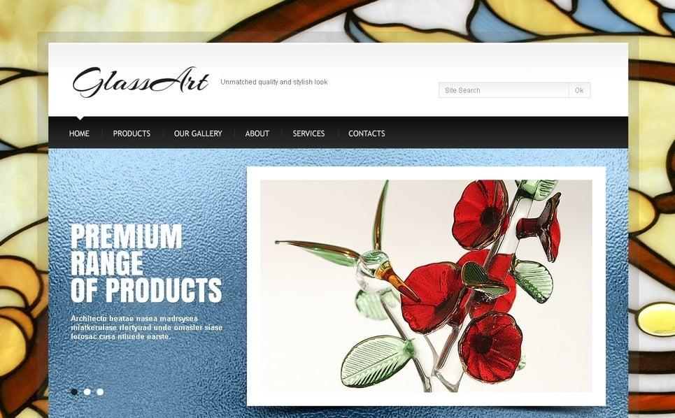 Művészet Weboldal sablon New Screenshots BIG