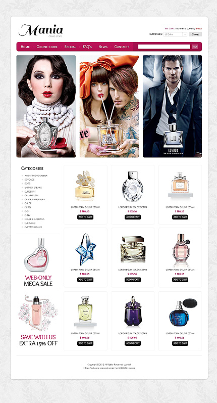 ADOBE Photoshop Template 40483 Home Page Screenshot