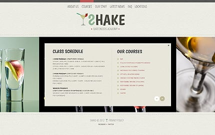 Template 40487 ( Courses Page ) ADOBE Photoshop Screenshot