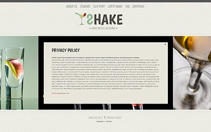 Template 40487 ( Privacy Policy Page ) ADOBE Photoshop Screenshot