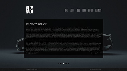 Template 40488 ( Privacy Policy Page ) ADOBE Photoshop Screenshot