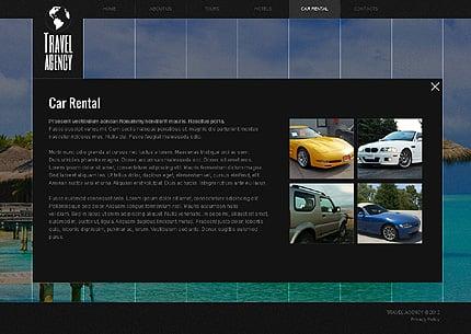 Template 40494 ( Car rental Page ) ADOBE Photoshop Screenshot