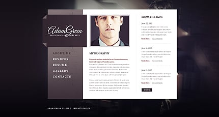 Personal Page Website Template 40499 Website Templates Zeronese