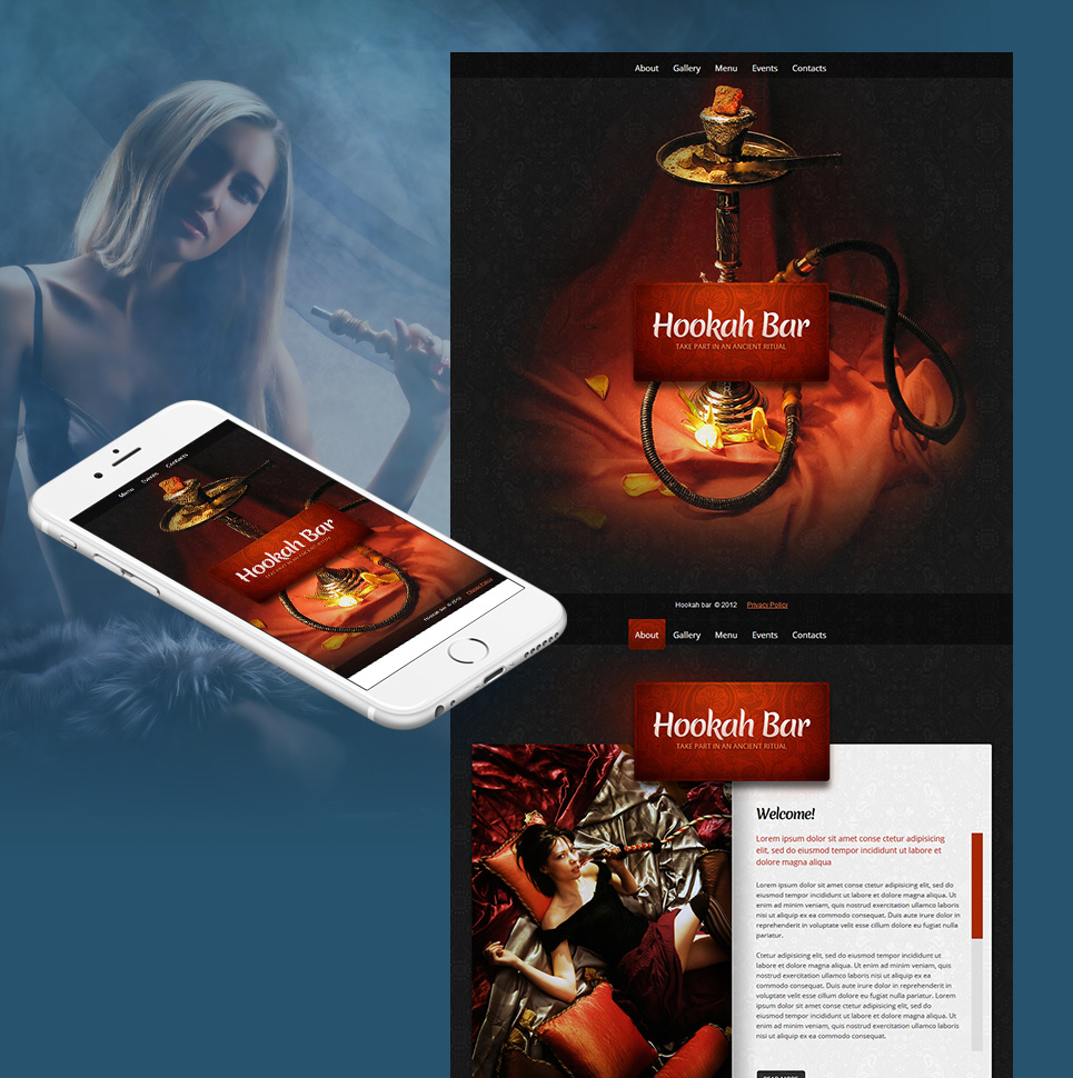 cafe and restaurant moto cms html template 40463. Black Bedroom Furniture Sets. Home Design Ideas