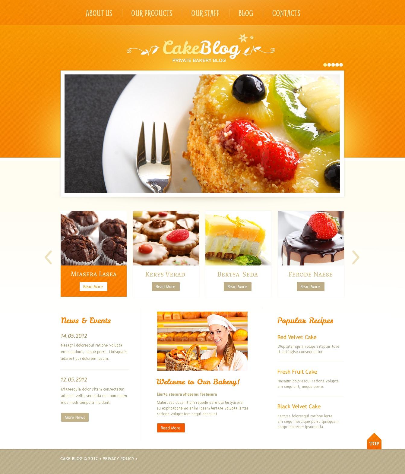 Cooking WordPress Theme - screenshot