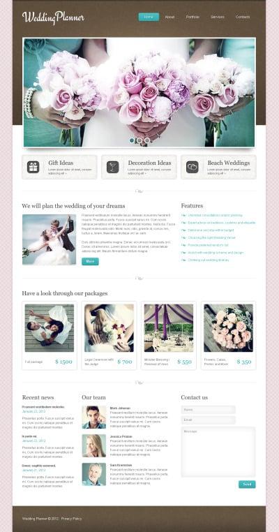 Wedding Planner Moto CMS HTML šablona