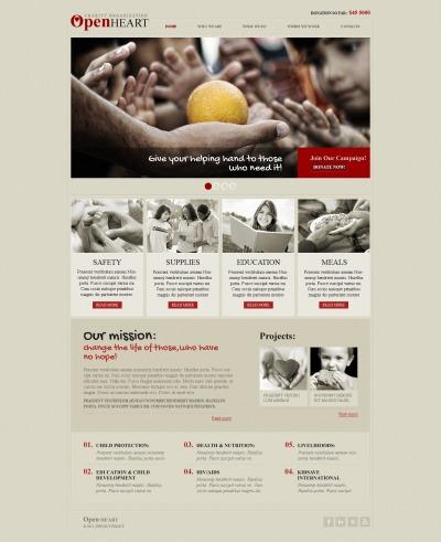 Responsive Plantilla Web #40452 para Sitio de  para Sitio de Caridad