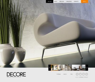 Plantilla Web #40496 para Sitio de  para Sitio de Diseño interior