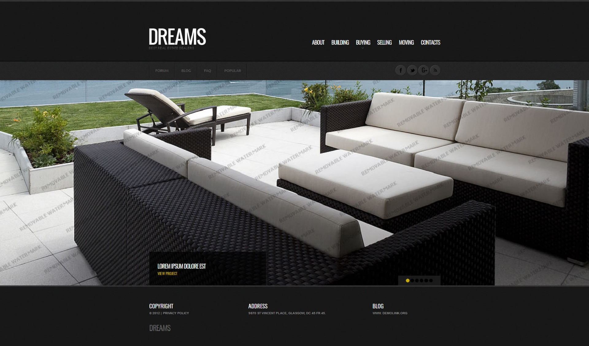Real Estate Website Template - screenshot