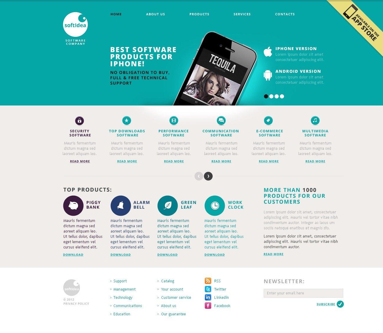Template Siti Web #40477 per Un Sito di Società di Software