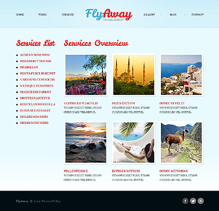 Template 40503 ( Services Page ) ADOBE Photoshop Screenshot