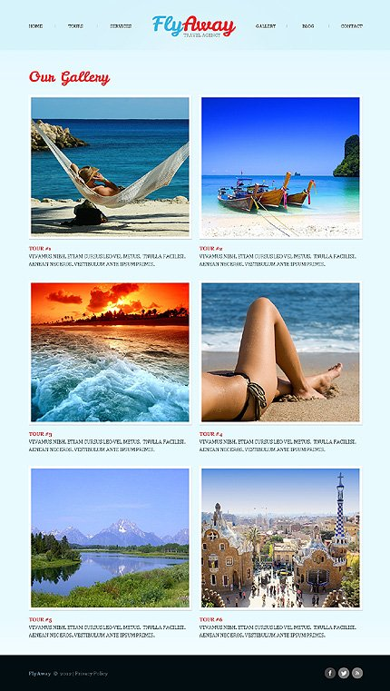Template 40503 ( Gallery Page ) ADOBE Photoshop Screenshot