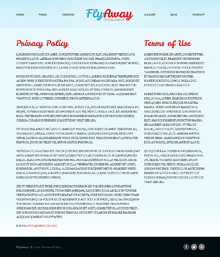 Template 40503 ( Privacy Policy Page ) ADOBE Photoshop Screenshot
