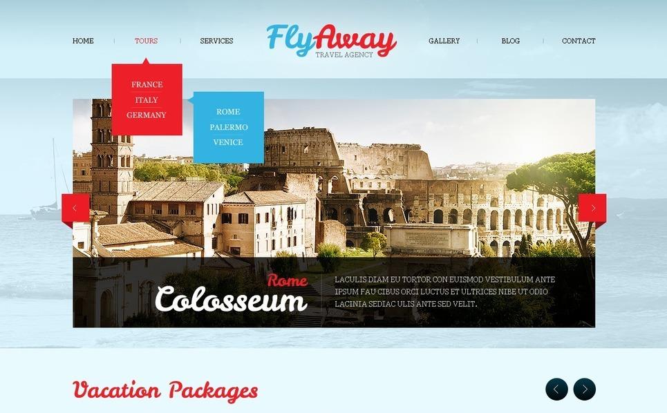 Plantilla Web #40503 para Sitio de Agencia de viajes New Screenshots BIG