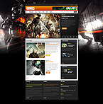 Games Website  Template 40507